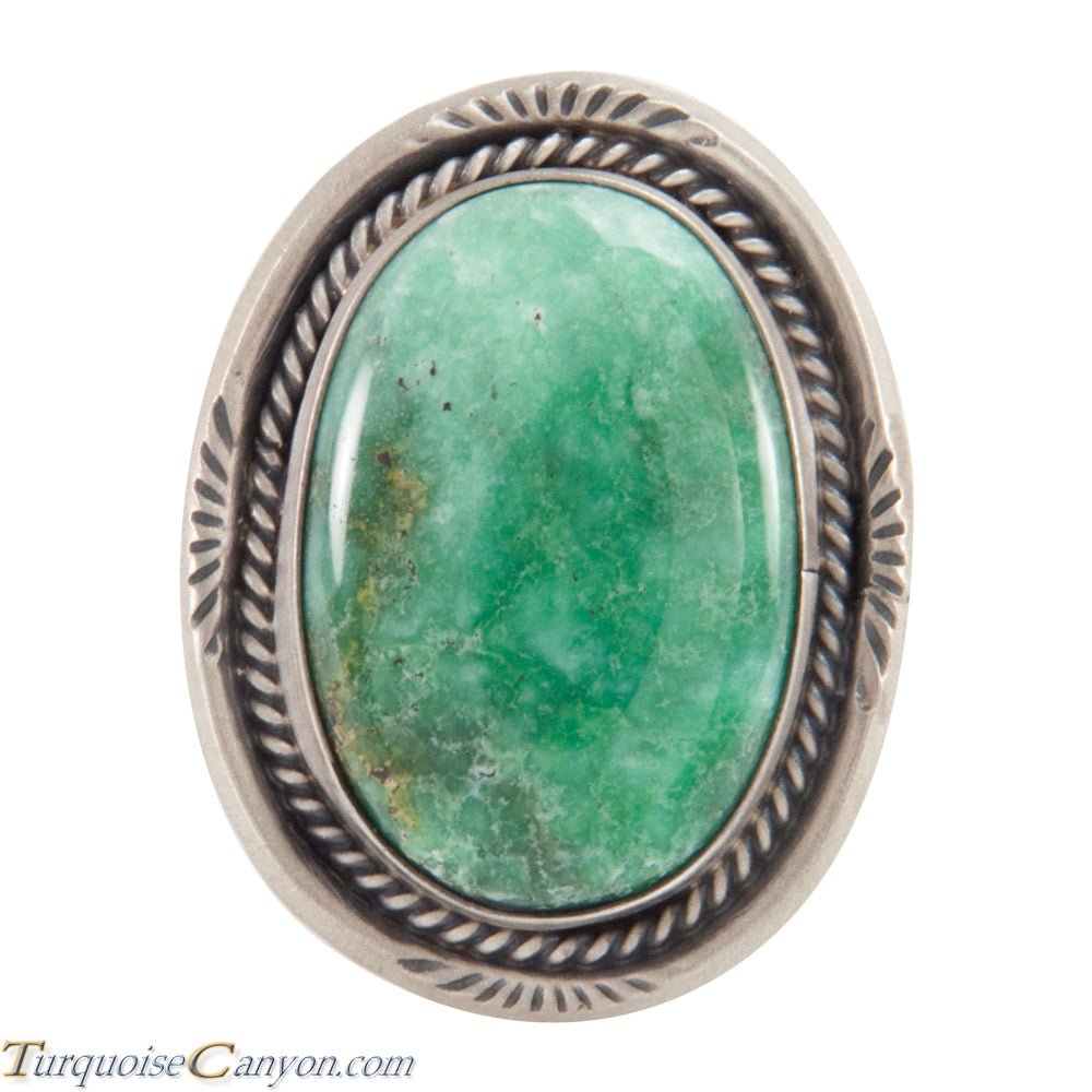 Navajo Native American Stenich Mine Turquoise Ring Size 8 3/4 SKU226036