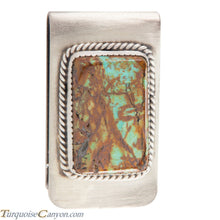 Load image into Gallery viewer, Navajo Native American Kingman Mine Turquoise Money Clip SKU226055