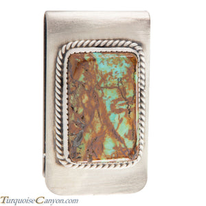Navajo Native American Kingman Mine Turquoise Money Clip SKU226055