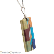 Load image into Gallery viewer, Santo Domingo Kewa Turquoise & Multi Shell Stone Pendant Necklace SKU226070