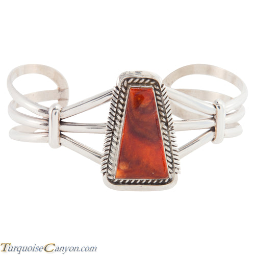 Navajo Native American Orange Spiny Oyster Shell Bracelet by Belone SKU226100