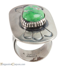 Load image into Gallery viewer, Navajo Native American Carico Lake Turquoise Ring Size 9 SKU226136