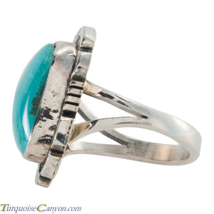 Navajo Native American Blue Gem Mine Turquoise Ring Size 6 SKU226139