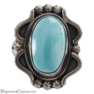 Navajo Native American Blue Gem Mine Turquoise Ring Size 5 1/4 SKU226140