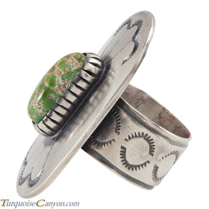 Navajo Native American Carico Lake Turquoise Ring Size 8 3/4 SKU226151