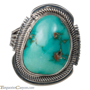 Navajo Native American Kingman Turquoise Ring Size 9 3/4 by Willie SKU226192