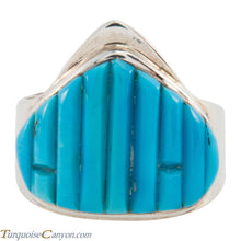 Load image into Gallery viewer, Navajo Native American Sleeping Beauty Turquoise Ring Size 8 1/2 SKU226200