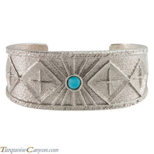 Load image into Gallery viewer, Navajo Native American Turquoise Tufa Cast Bracelet by Monty Claw SKU226210