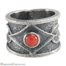 Load image into Gallery viewer, Navajo Native American Coral Tufa Cast Ring Size 6 3/4 by M Claw SKU226213