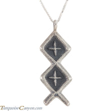 Load image into Gallery viewer, Navajo Native American Sterling Silver Pendant by Monty Claw SKU226223
