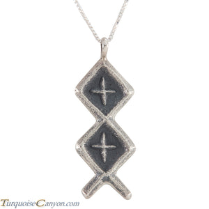 Navajo Native American Sterling Silver Pendant by Monty Claw SKU226223
