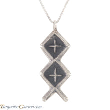 Load image into Gallery viewer, Navajo Native American Sterling Silver Pendant by Monty Claw SKU226224