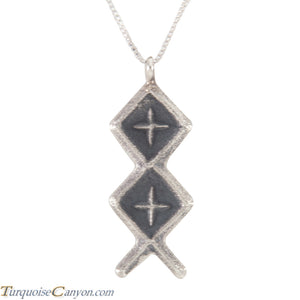 Navajo Native American Sterling Silver Pendant by Monty Claw SKU226224