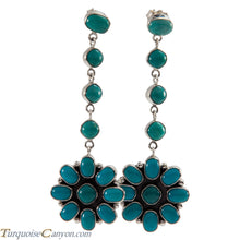 Load image into Gallery viewer, Navajo Native American Kingman Turquoise Earrings by Selena Warner SKU226256