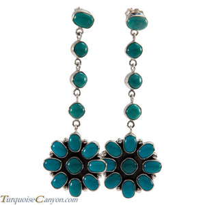 Navajo Native American Kingman Turquoise Earrings by Selena Warner SKU226256