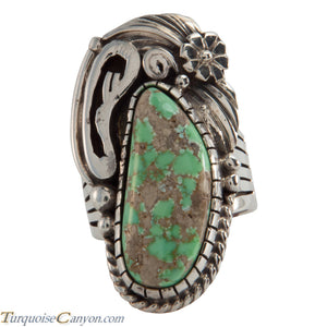 Navajo Native American Carico Lake Turquoise Ring Size 7 1/4 SKU226286