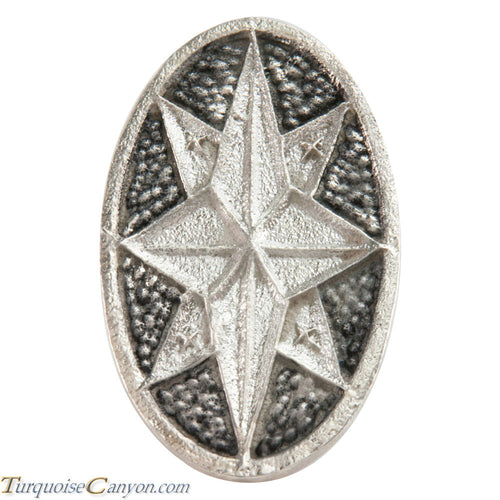 Navajo Native American Tufa Cast Sterling Silver Ring Size 7 1/4 SKU226295