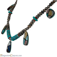 Load image into Gallery viewer, Navajo Native American Turquoise Inlay Necklace by Stacey Turpen SKU226350