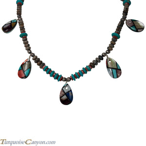 Navajo Native American Turquoise Inlay Necklace by Stacey Turpen SKU226350