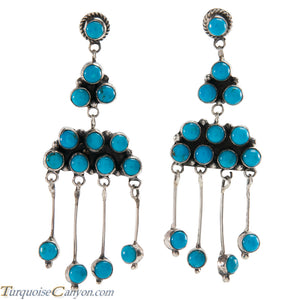 Navajo Native American Kingman Turquoise Earrings by Livingston SKU226407