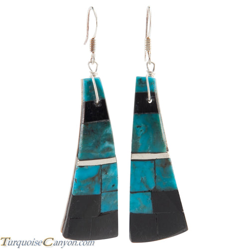 Santo Domingo Turquoise and Jet Shell Earrings by Tortalita SKU226450