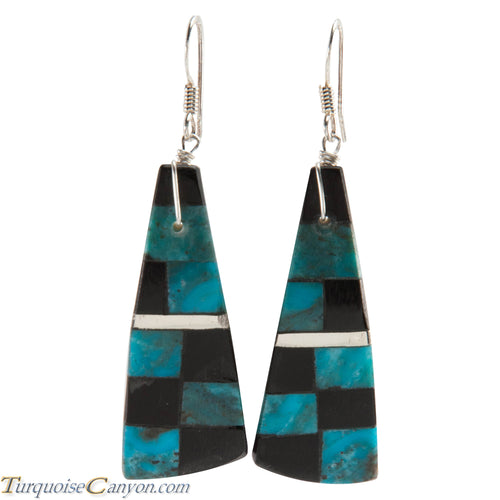 Santo Domingo Turquoise and Jet Shell Earrings by Tortalita SKU226451