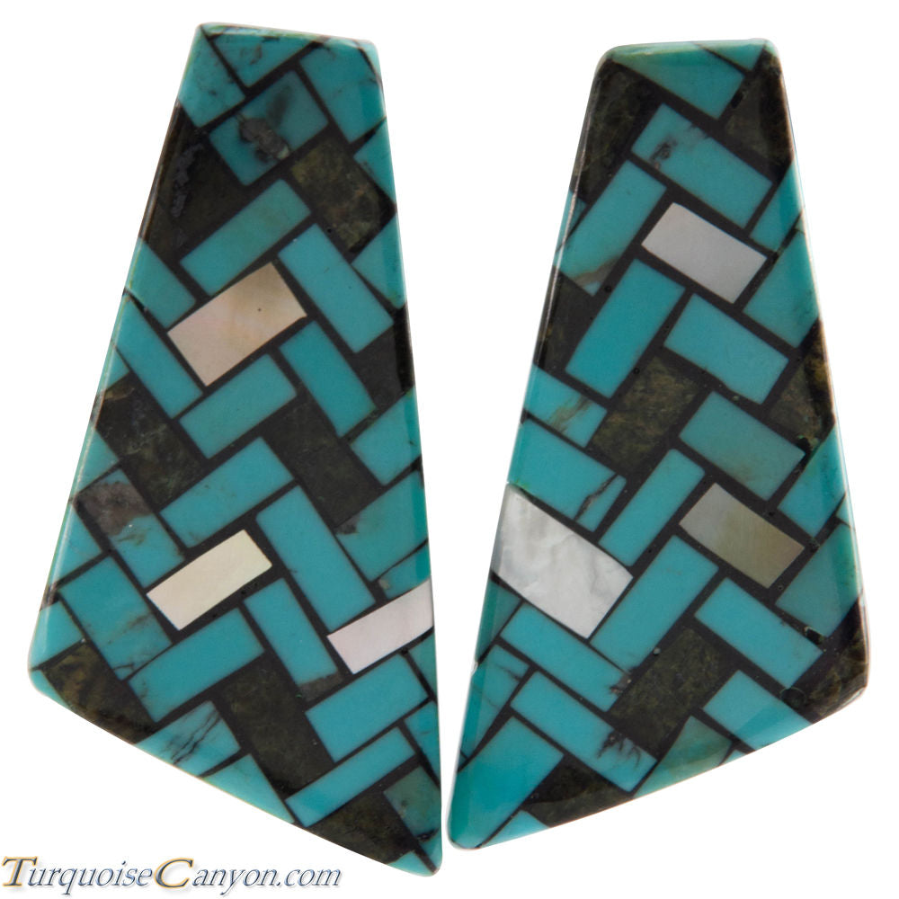 Santo Domingo Turquoise Shell Earrings by Rena Owen SKU226478