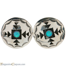 Load image into Gallery viewer, Navajo Native American Lab Opal Silver Shadow Box Earrings by Perry SKU226480