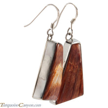Load image into Gallery viewer, Navajo Native American Orange Spiny Oyster Shell Earrings by Guerro SKU226510