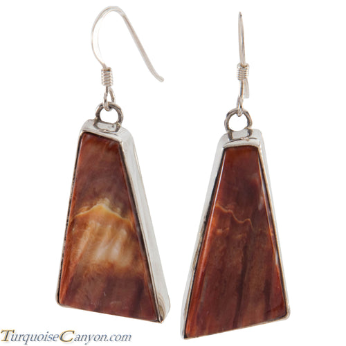 Navajo Native American Orange Spiny Oyster Shell Earrings by Guerro SKU226510