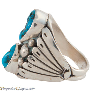 Navajo Native American Sleeping Beauty Turquoise Ring Size 11 1/2 SKU226571