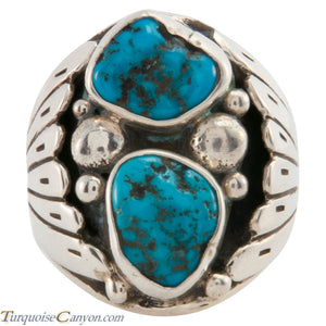 Navajo Native American Sleeping Beauty Turquoise Ring Size 10 1/2 SKU226572