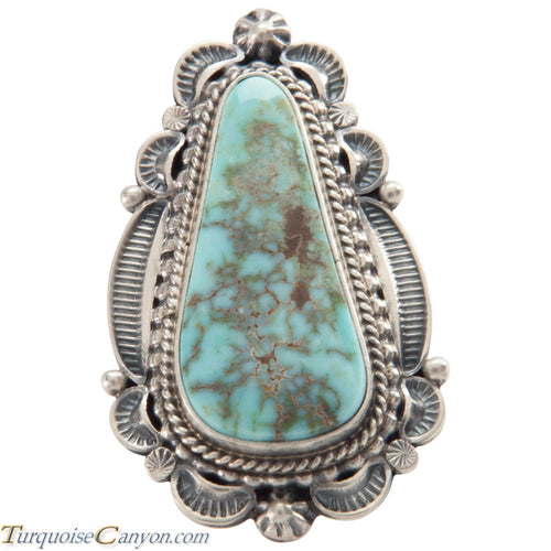 Navajo Native American Turquoise Ring Size 9 1/4 by Emma Linkin SKU226585