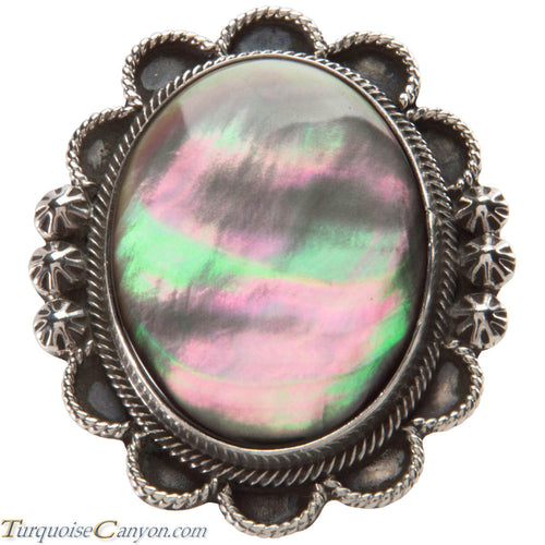 Navajo Native American Abalone Shell Ring Size 5 3/4 by Richard Jim SKU226586