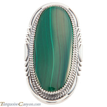 Load image into Gallery viewer, Navajo Native American Malachite Ring Size 8 1/2 by Roberta Begay SKU226592