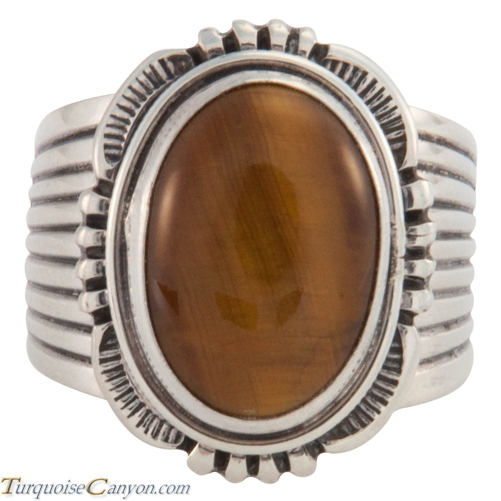 Navajo Native American Tiger Eye Ring Size 11 1/2 by Will Denetdale SKU226597