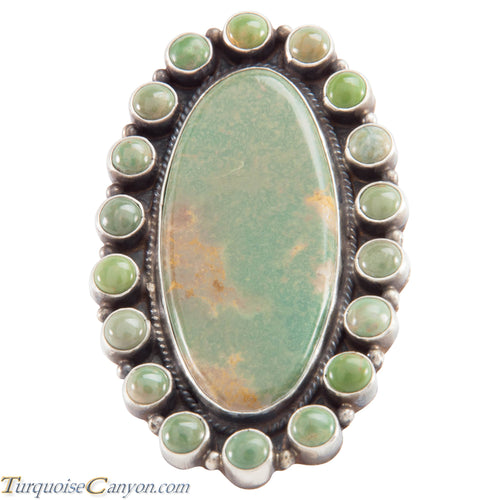 Navajo Native American Royston Turquoise Ring Size 8 1/4 by Brown SKU226620