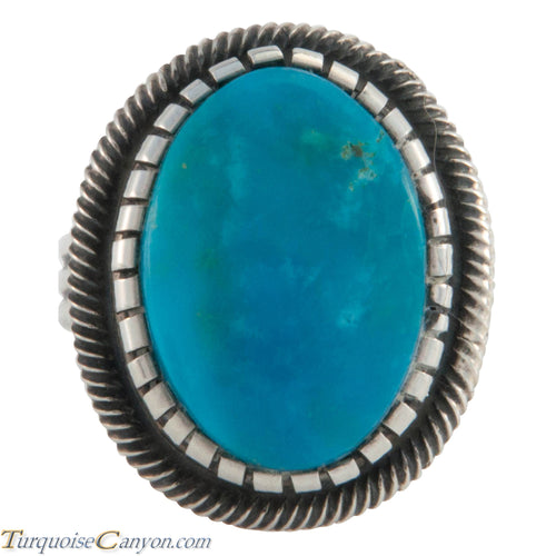 Navajo Native American Kingman Turquoise Ring Size 8 by Martinez SKU226625