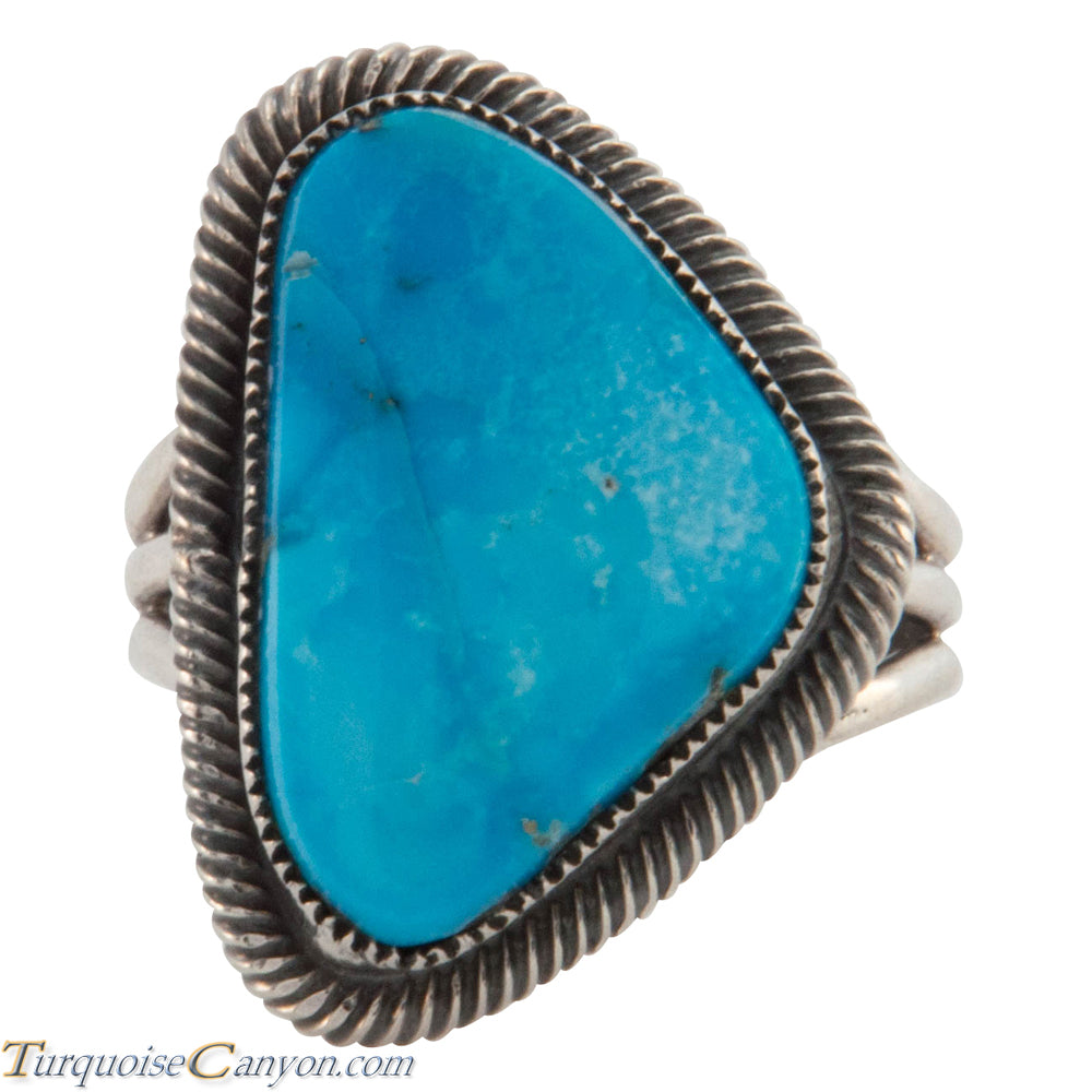 Navajo Native American Kingman Turquoise Ring Size 7 3/4 by Martinez SKU226627