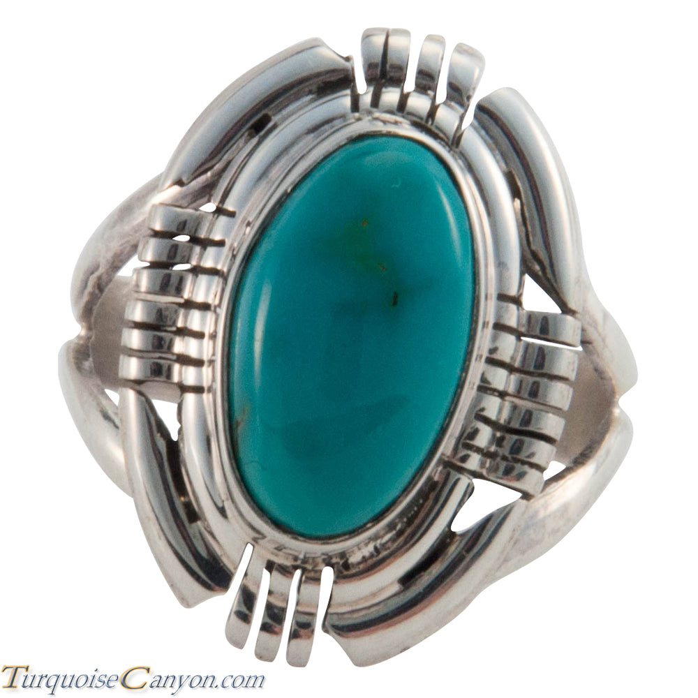 Navajo Native American Kingman Turquoise Ring Size 7 1/4 by Secatero SKU226628