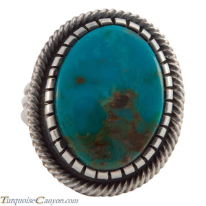 Navajo Native American Kingman Turquoise Ring Size 6 3/4 by Martinez SKU226630