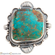 Load image into Gallery viewer, Navajo Native American Kingman Turquoise Ring Size 8 1/4 by Brown SKU226638
