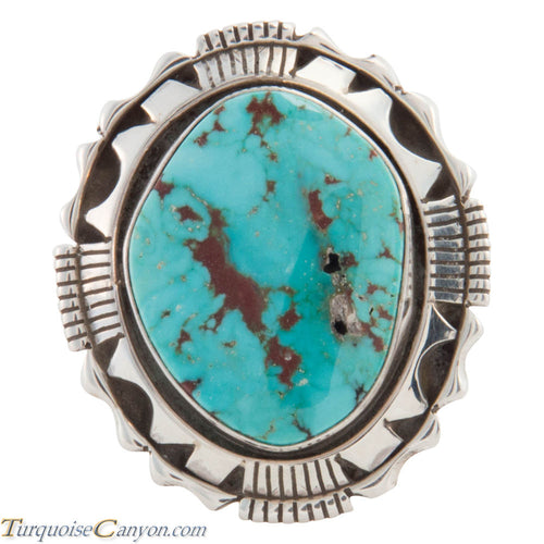 Navajo Native American Stone Mountain Turquoise Ring Size 8 1/4 SKU226645