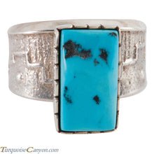 Load image into Gallery viewer, Navajo Native American Sleeping Beauty Turquoise Ring Size 13 1/2 SKU226647