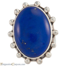 Load image into Gallery viewer, Santo Domingo Native American Lapis Ring Size 7 1/2 by Daniel Coriz SKU226650