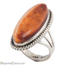 Load image into Gallery viewer, Navajo Native American Orange Spiny Oyster Shell Ring Size 5 1/2 SKU226651