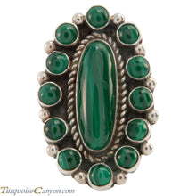 Load image into Gallery viewer, Navajo Native American Malachite Ring Size 7 1/4 by Richard Jim SKU226661