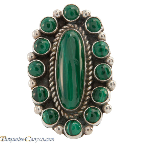 Navajo Native American Malachite Ring Size 7 1/4 by Richard Jim SKU226661