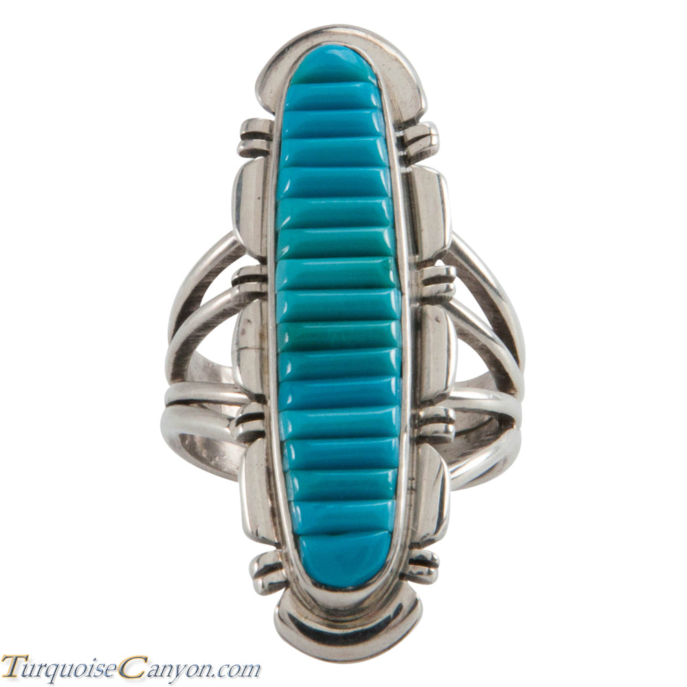 Navajo Native American Sleeping Beauty Turquoise Ring Size 6 3/4 SKU226666