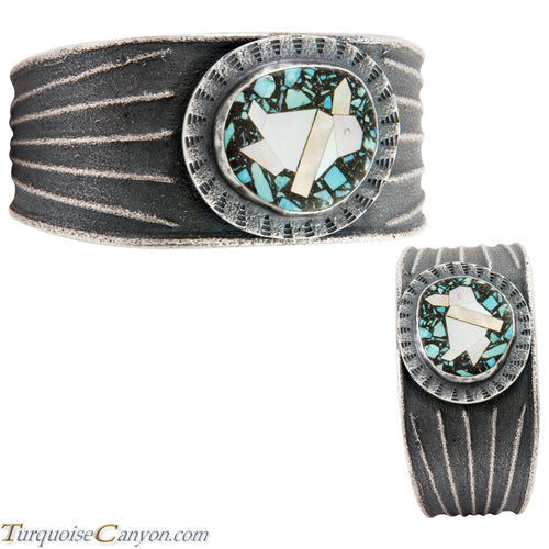 Navajo Native American Turquoise w Penguin Bracelet by Monty Claw SKU226675